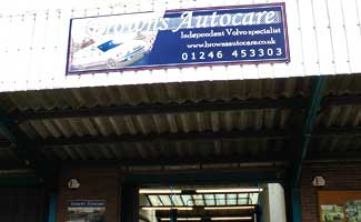browns autocare of chesterfield premises and excel premises