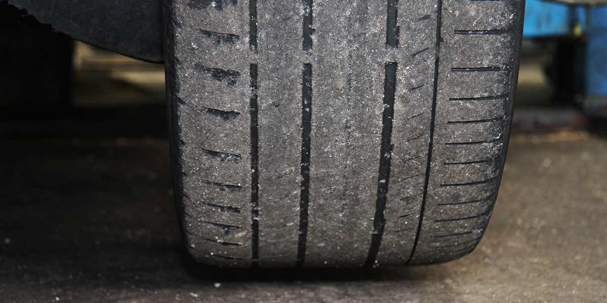this tyre will definately get you 3 points on your license it is very bald